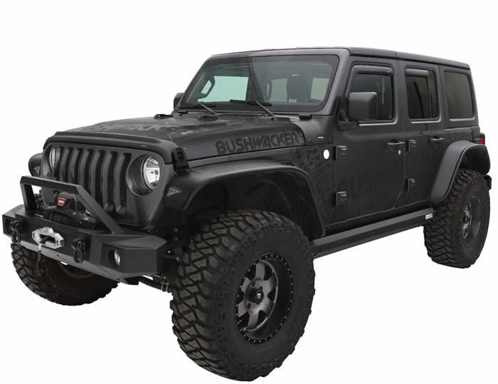 Skärmar Flat Style, Jeep Wrangler JL, Bushwacker