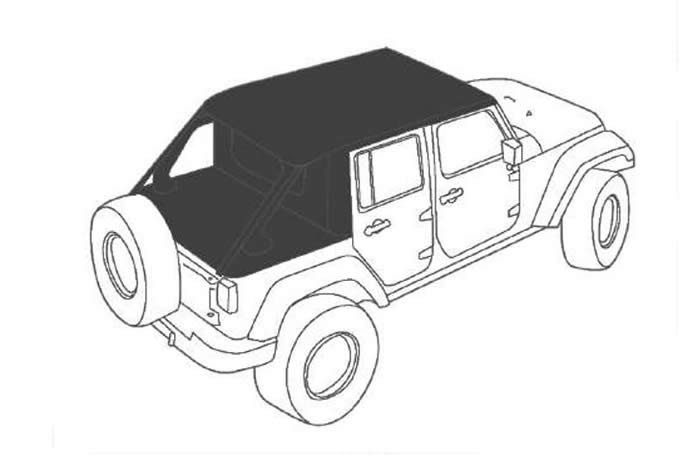 Sun top Cargo Jeep Wrangler JL