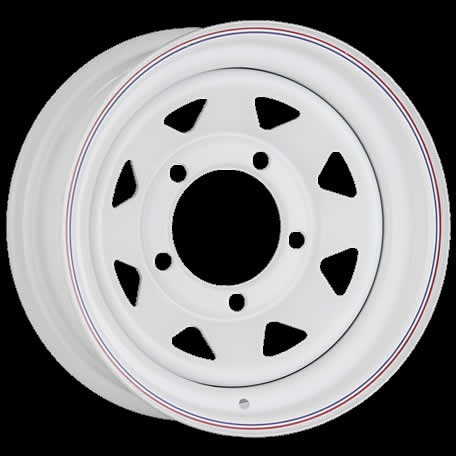 White Spoke Triangular 8-Spoke