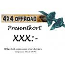 Presentkort på 4x4offroad.se